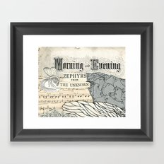 Morning and Evening Framed Art Print