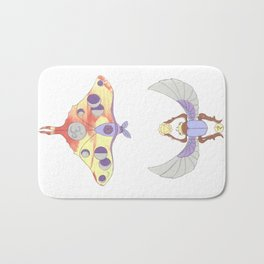 Fire Moth + Purple Scarab Bath Mat