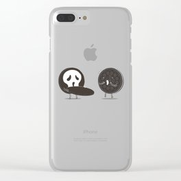 Cookies and Scream Clear iPhone Case