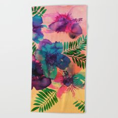 Skye Floral Beach Towel