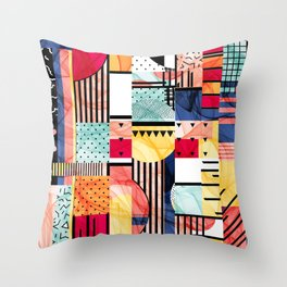 Blinded To Color No More Throw Pillow