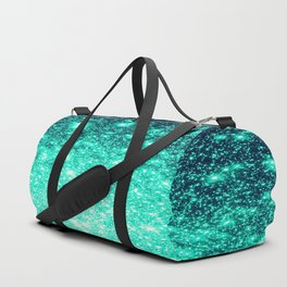 Stars Ombre Cool Aqua & Teal Duffle Bag