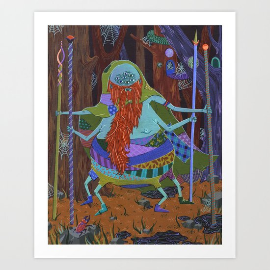 The Spider Wizard Art Print