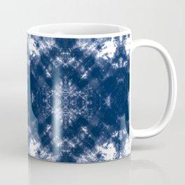 Shibori Tie Dye 1 Indigo Blue Coffee Mug