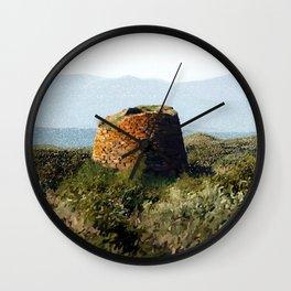 Nuraghe 1500 B.C. Wall Clock