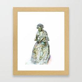 The Leics Seamstress Statue Framed Art Print