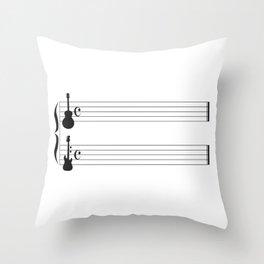 Guitar Music Throw Pillow