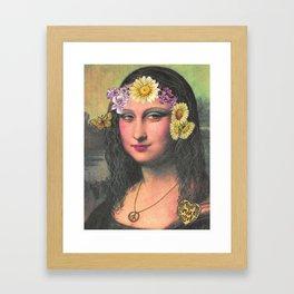 Hippie Gioconda Framed Art Print