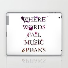 Music quote Laptop & iPad Skin