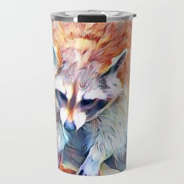 Aquarell Raccoon Travel Mug