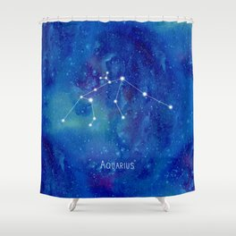 Constellation Aquarius Shower Curtain