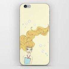 long hair girl iPhone & iPod Skin
