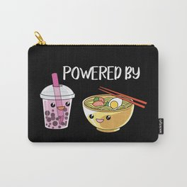 Powered by Ramen and Boba-Tea Carry-All Pouch