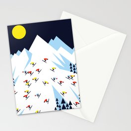 THE MOUNTAINS. NIGHT. Stationery Cards