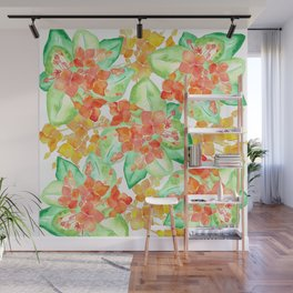 Succulent flowers Wall Mural