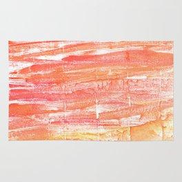 Vivid tangerine abstract watercolor Rug