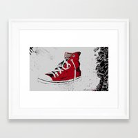 chuck Framed Art Prints featuring Chuck  by Project P