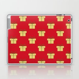 Christmas gifts - red and gold Laptop & iPad Skin