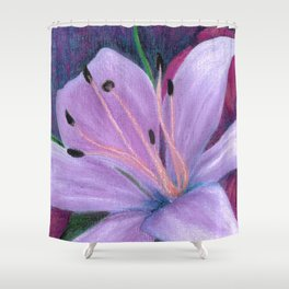 Lily in Lavenders Shower Curtain