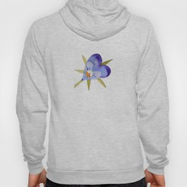 Pretty purple painterly flower Hoody