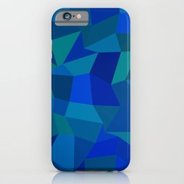 Geometric shapes,plane,triangles,polygons,hexagons,abstract,light blue  iPhone Case