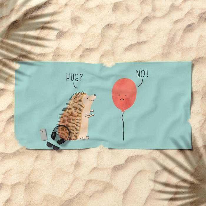 impossible love Beach Towel