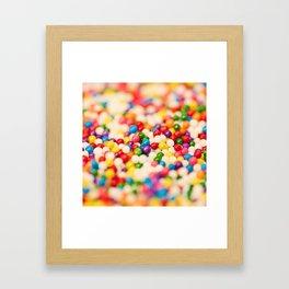 Pretty Sprinkles Framed Art Print