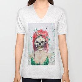 Poison Ivy Skull Unisex V-Neck