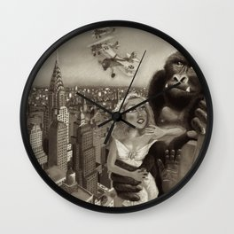 KING KONG 1933. Black & White Wall Clock