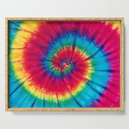 Colorful Tie Dye Spiral Serving Tray