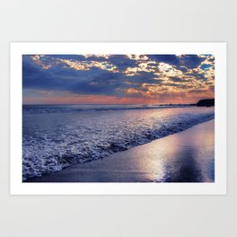 Peace of Mind Cayucos Beach Art Print
