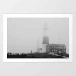 Foggy Montauk Lighthose Art Print