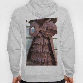 Rusty metal owl Hoody