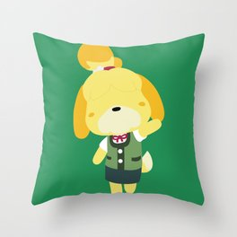 Isabelle (Animal Crossing) Throw Pillow