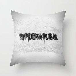 Supernatural monochrome Throw Pillow
