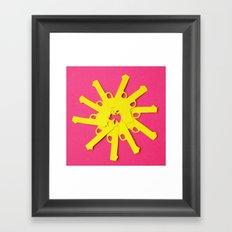 Gun Flower on Pink Framed Art Print