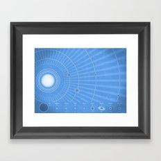 Solar System Cool Framed Art Print