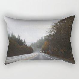 Overcast Fall Road Rectangular Pillow