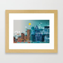 Back to the future ... Framed Art Print