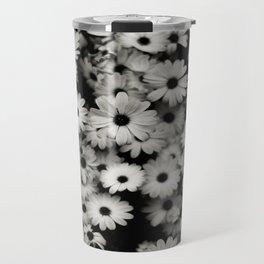daisy, black & white Travel Mug