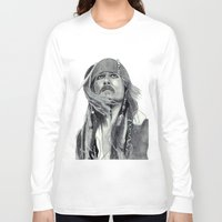 jack sparrow Long Sleeve T-shirts featuring Jack Sparrow - Bring Me That Horizon by Art by Cathrine Gressum
