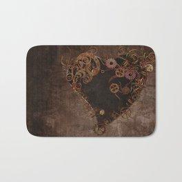 Steampunk Heart Bath Mat