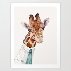 Mr Giraffe Art Print