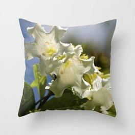 """Moonflower"" by ICA PAVON Throw Pillow"