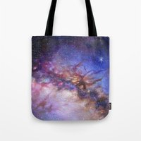 milky way Tote Bags featuring Milky Way by Trisha Thompson Adams