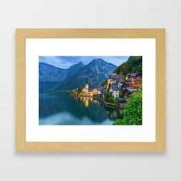 Hallstatt Village, Alps Framed Art Print