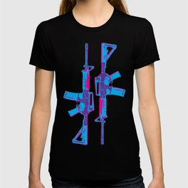 Neon M4 Carbine (Rifle) T-shirt