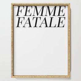 Femme Fatale Serving Tray