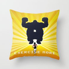Exercise more. A PSA for stressed creatives. Throw Pillow