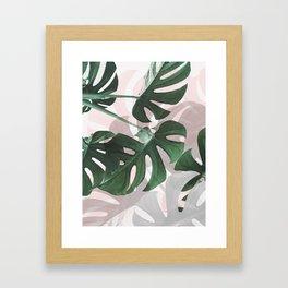 Monstera Play Framed Art Print